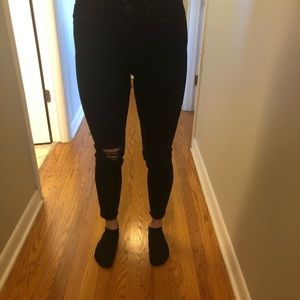 Madewell High Rise Black Jeans size 27